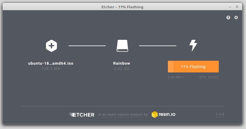 Software Etcher.io