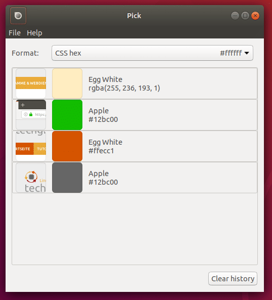 Pick color picker