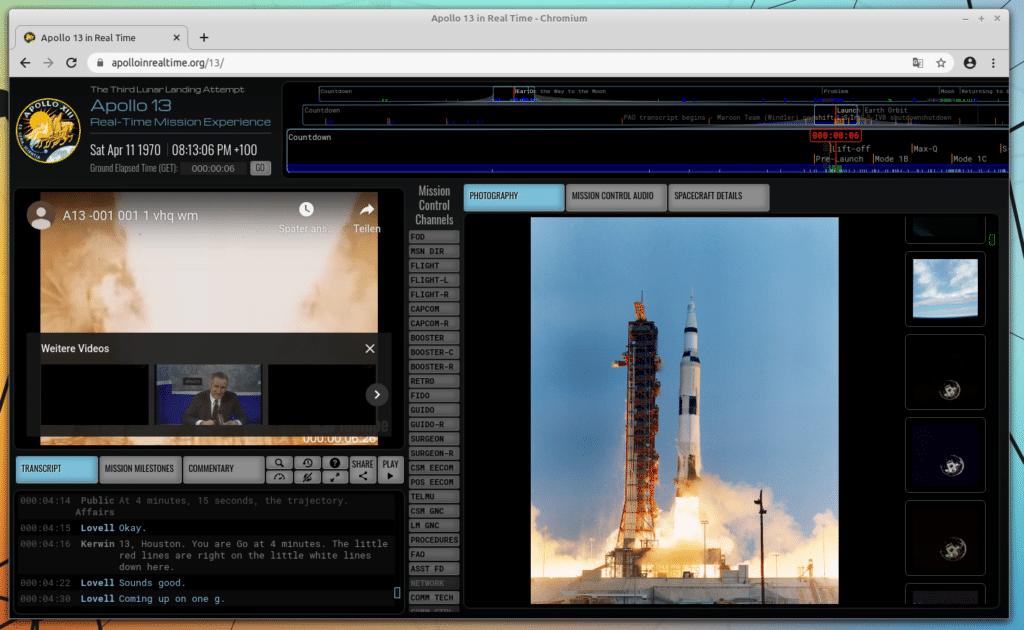 Screenshot Apollo 13 in Real Time