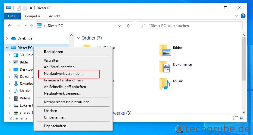 Windows 10 Netzlaufwerk verbinden