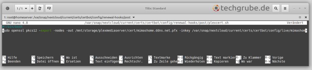 Let's Encrypt Zertifikat für Plex automatisch konvertieren